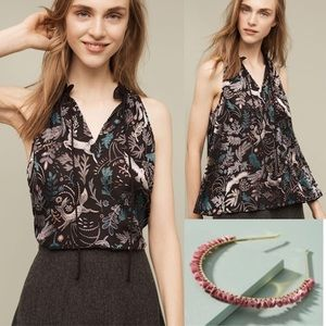 Gorgeous Anthropologie metallic fabled halter top